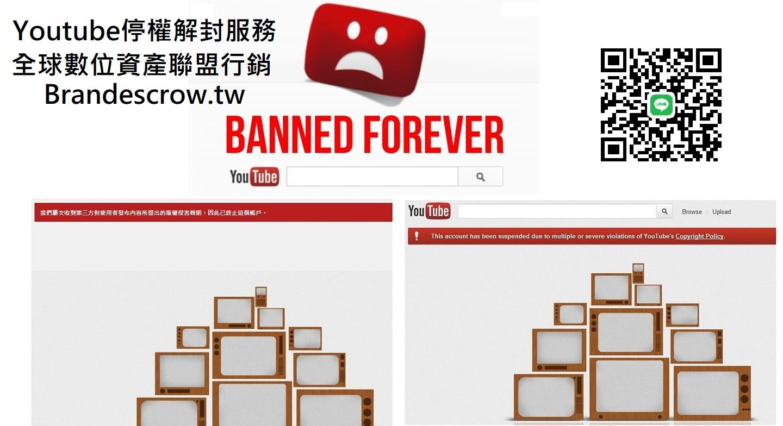Youtube頻道停權